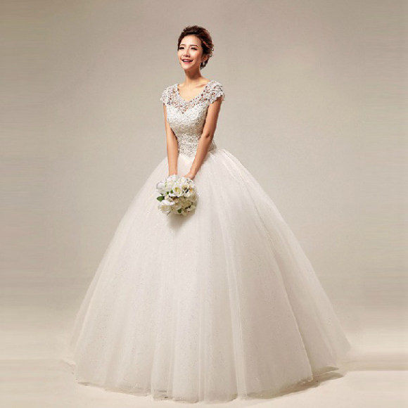 The Awesome Princess Wedding Gown With Lace Tulle And Bling Diamond