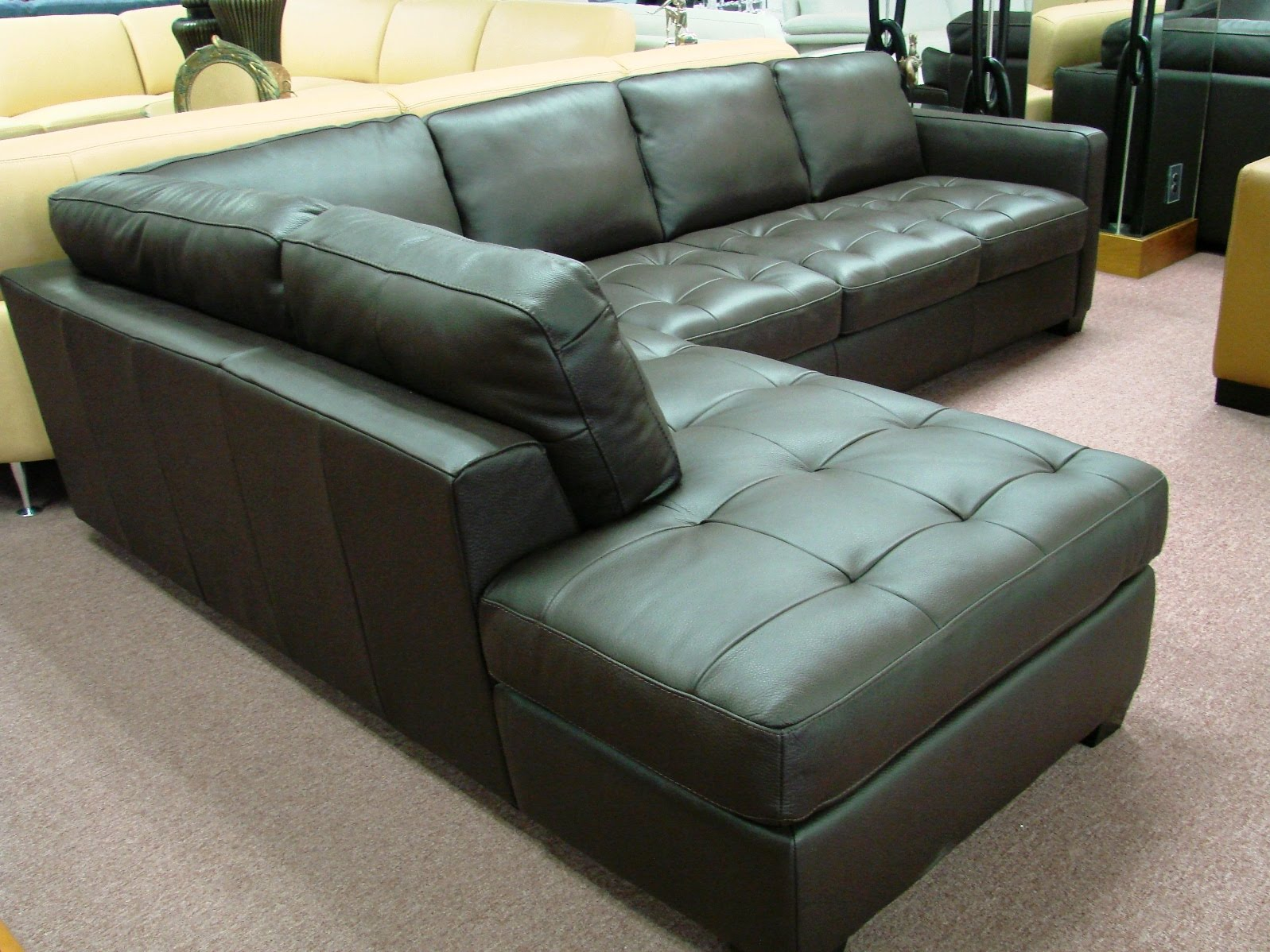 natuzzi leather sofas sectionals by interior concepts. Black Bedroom Furniture Sets. Home Design Ideas