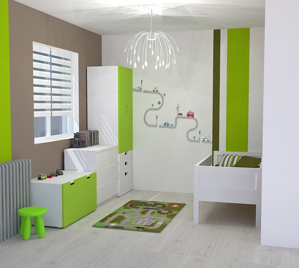 chambre couleur taupe et vert anis avec des. Black Bedroom Furniture Sets. Home Design Ideas