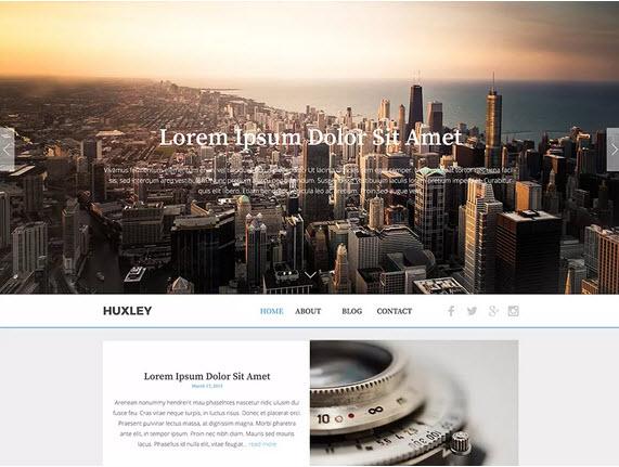 The Huxley Wordpress theme