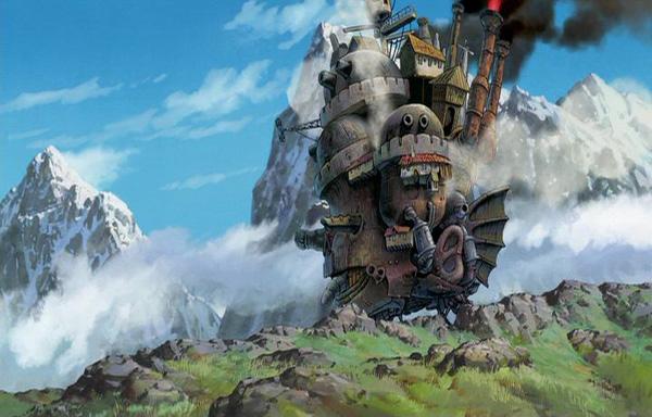 fotografía de la pelicula  el castillo Ambulante