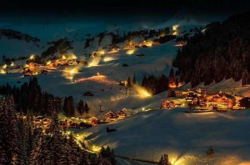 Tiny towns Damüls, Austria