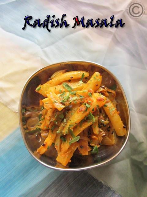 Radish-stir-fry