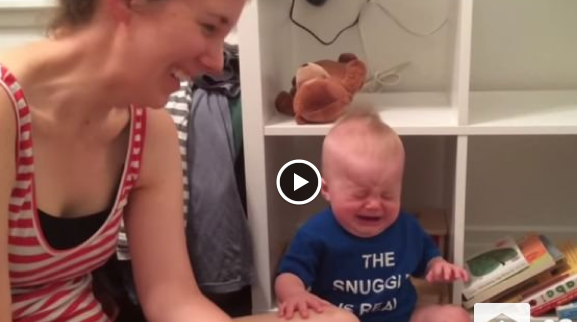 http://www.viralvideotoday.net/2015/09/bookworm-baby-cries-every-time-book-ends.html