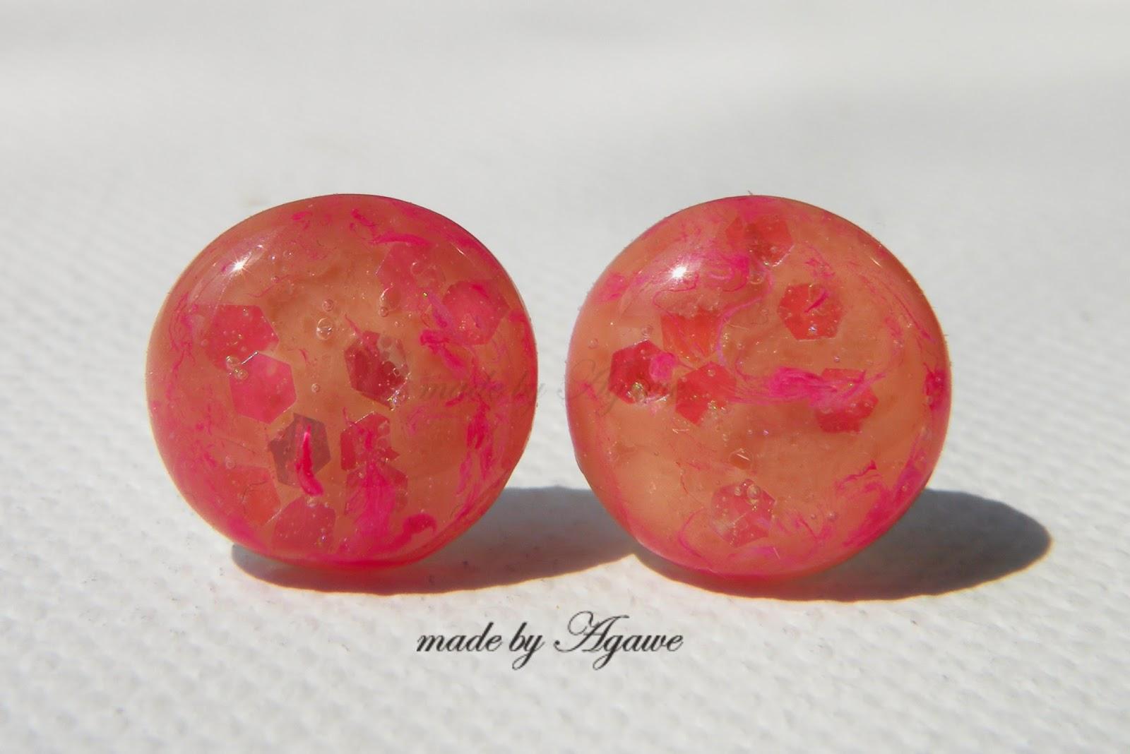 Kolczyki sztyfty pink