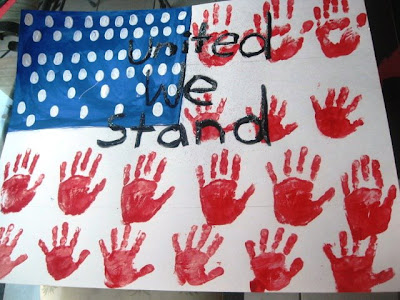 Handprint American Flag