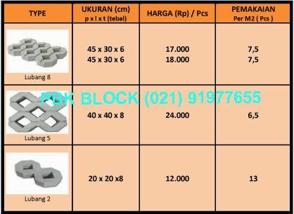 harga jual grass block 2015