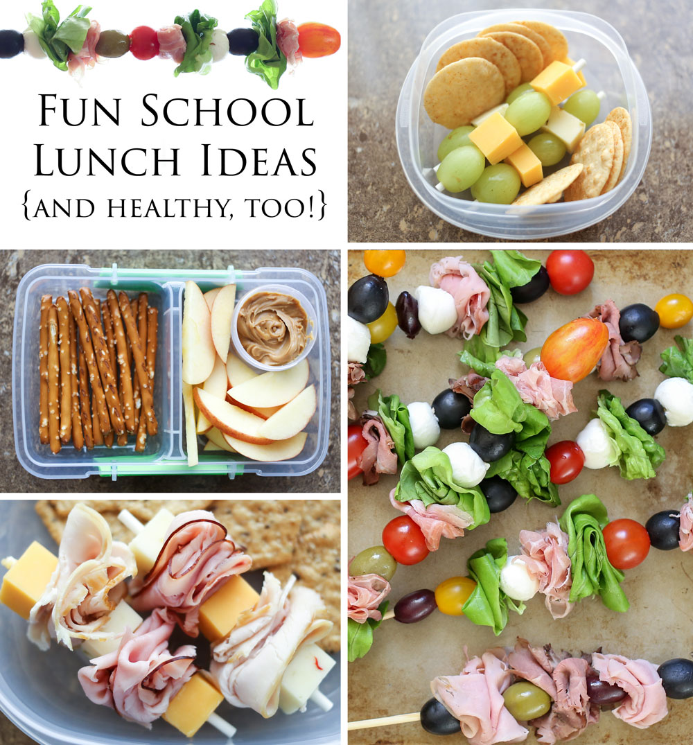 Fun and Healthy Back-To-School Lunch Ideas by Barefeet In The Kitchen