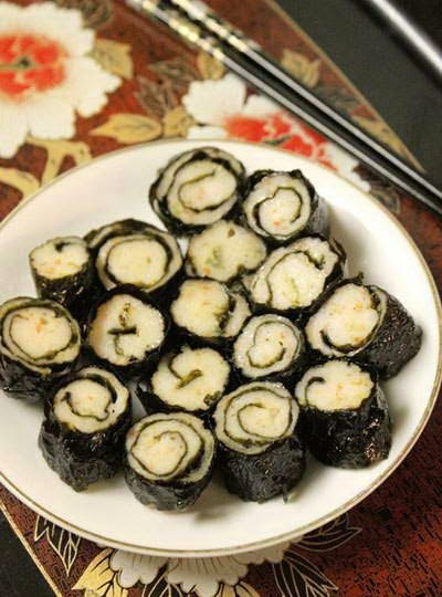 Fried Shrimp Rolls with Seaweed - Chả Tôm Cuộn Rong Biển
