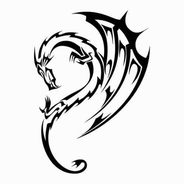 Bewitching image with regard to dragon stencil printable