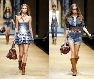 Modelo de vestido jeans country - dicas e modelos
