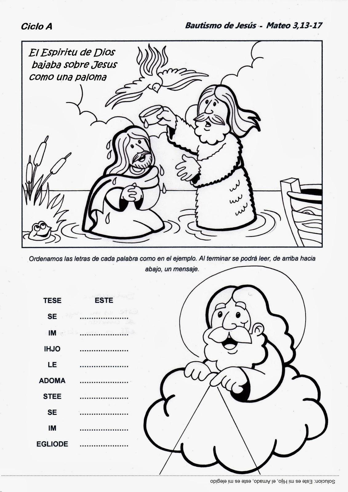 Matrimonio Catolico Resumen : El rincón de las melli bautismo jesús ciclo a