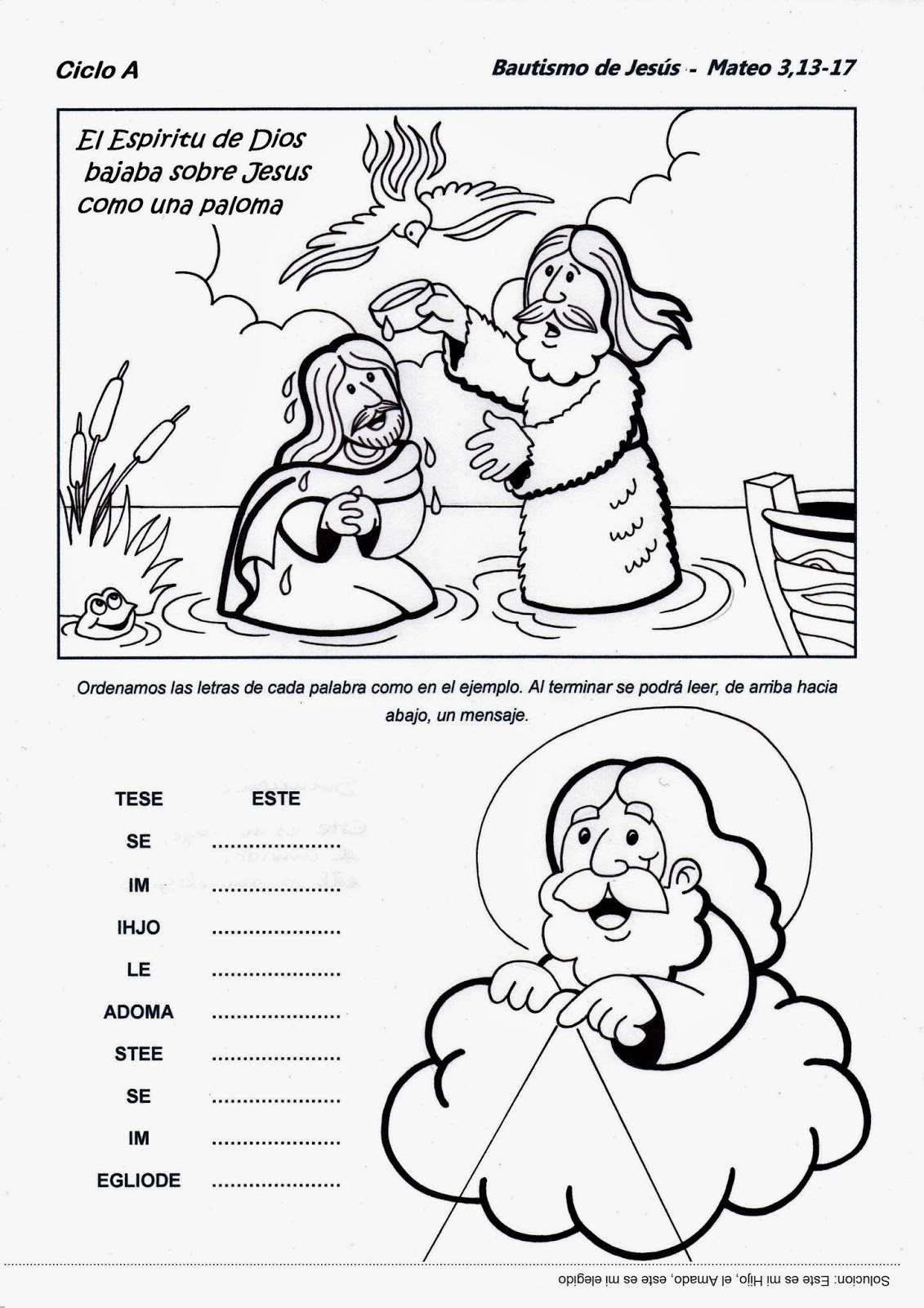 El Rincón de las Melli: Bautismo de Jesús - CICLO A