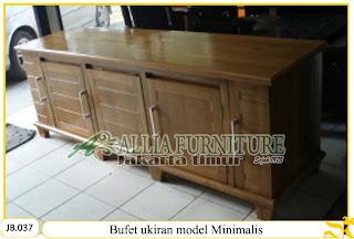 Bufet minimalis tv kayu jati model ukiran