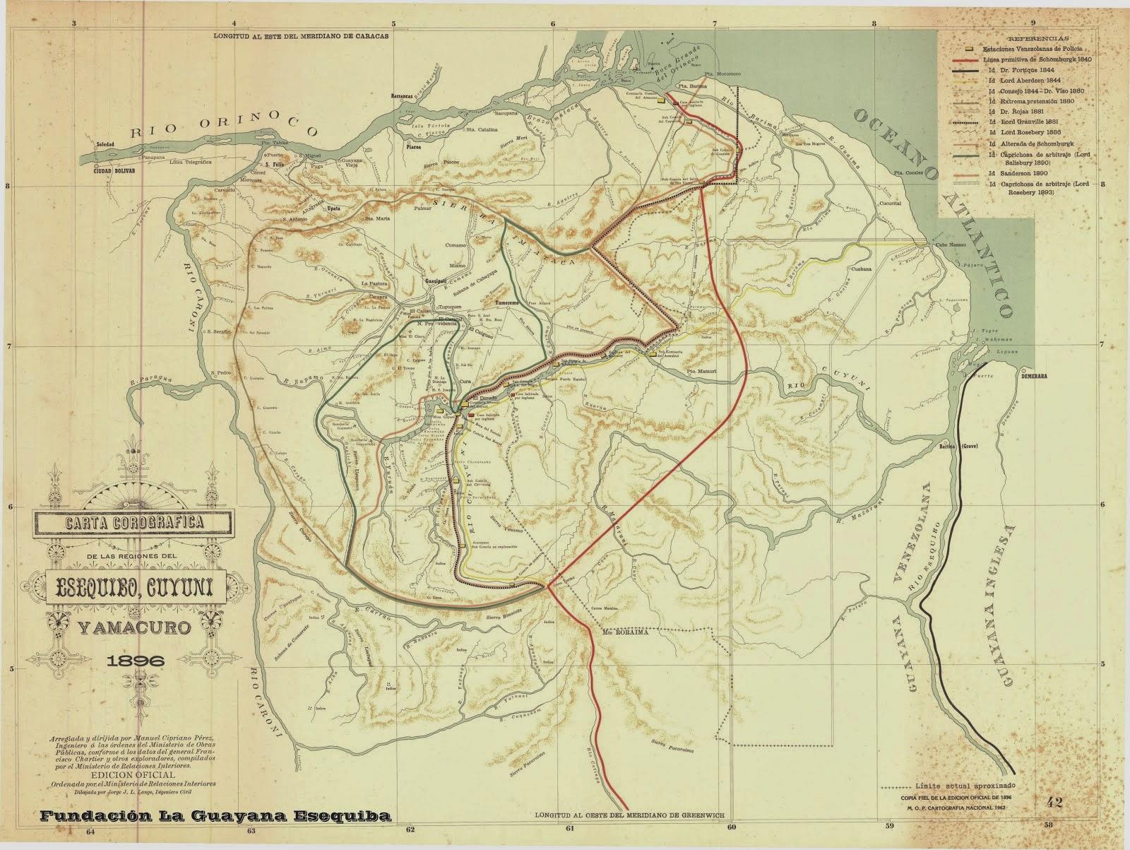 Cartograf a de la guayana la evidencia for Ministerio de relaciones interiores espana