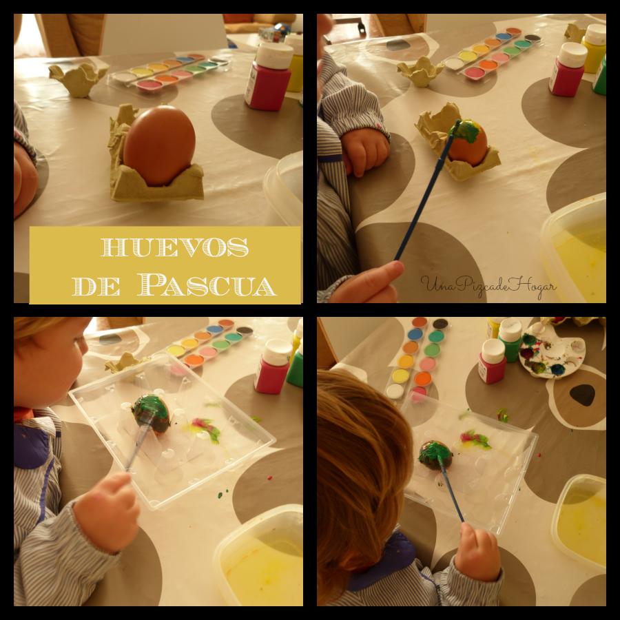 Pintando huevos de Pascua.