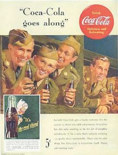 Propaganda da Coca-Cola durante a Segunda Guerra Mundial.