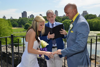 Bride and Groom Wedding Rings - Ceremony at Belvedere Castle