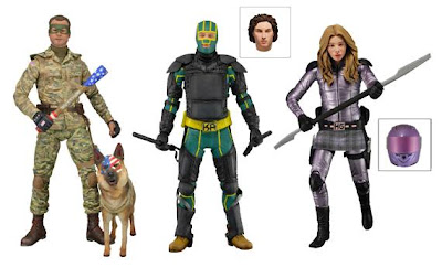 NECA Kick-Ass Series 2 - Col. Stars and Stripes - Kick-Ass in Armor - Hit-Girl Figures