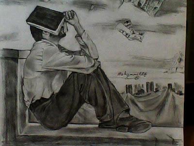 رسم بالرصاص والفحم