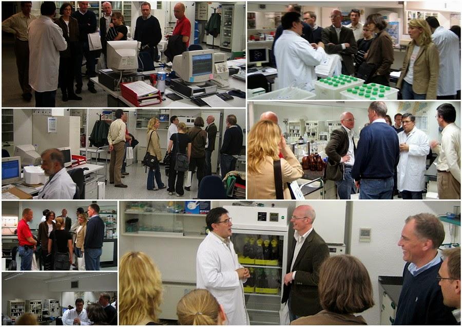 2006 föredrag om vatten och avlopp planläggning i Katalonien, besök på laboratoriet information