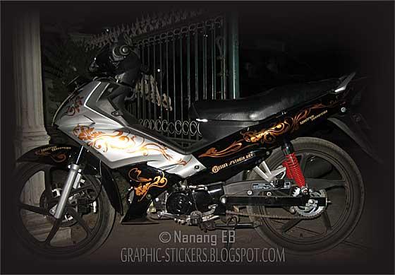 floral sticker sepeda motor