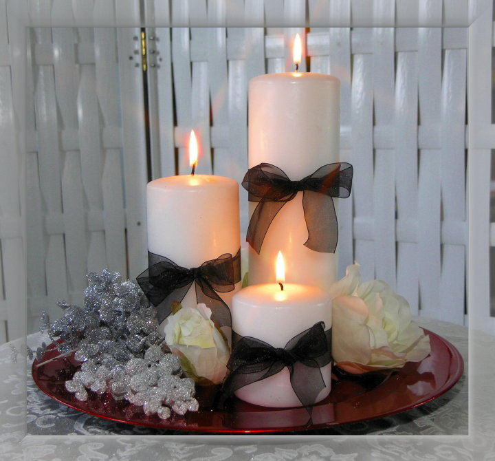 Decorating a table with candles photograph real or fake