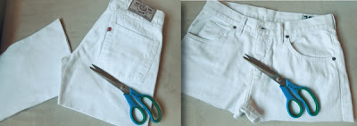 DIY short jeans customizado com strass