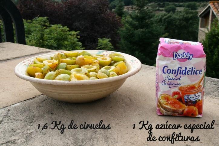 Mermelada casera de ciruelas - Ingredientes