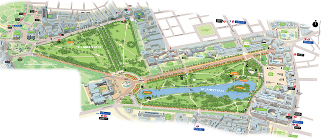 Map of Green Park and St James's Park