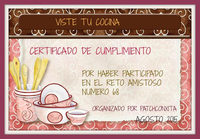 Certificado de cumplimiento nº 68 VISTE TU COCINA