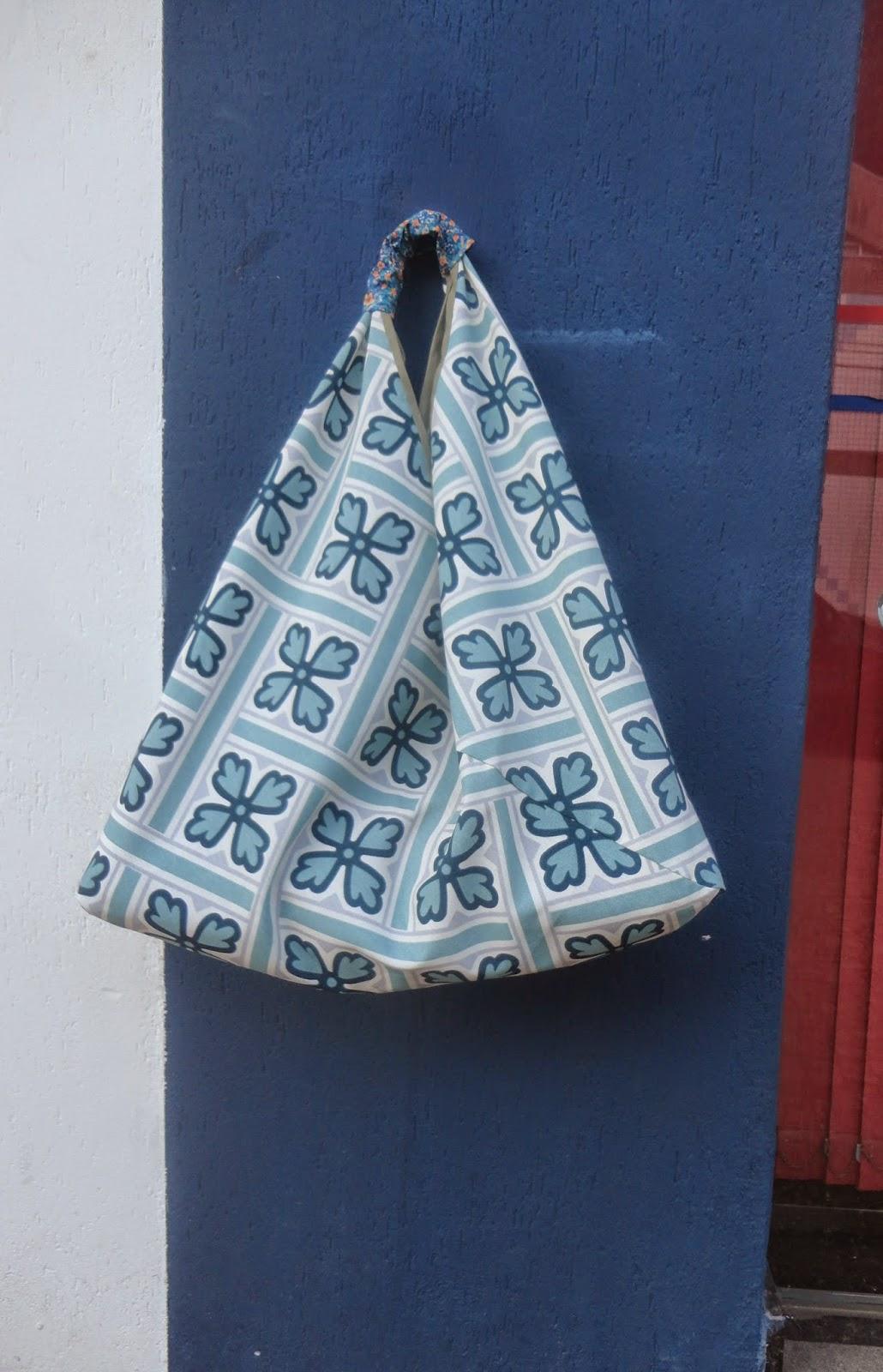 Bolsa Em Origami De Tecido : Dandolinhas bolsa de compras com a t?cnica do origami