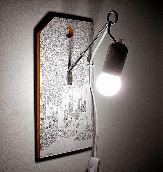 Luminária upcycling