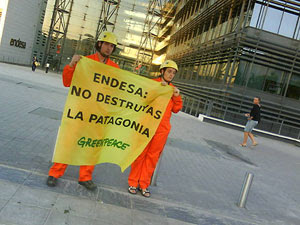 Greenpeace se opone al proyecto de Endesa en la Patagonia chilena