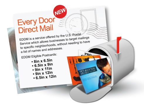 EDDM Every Door Direct Mail mailing service offered by the United States Postal Service