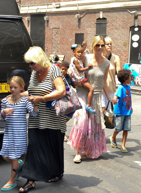Heidi Klum Takes In A Broadway Show With The Kids » Gossip | Heidi Klum