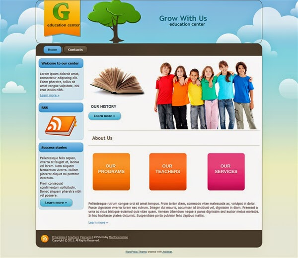 Grow With Us - Free Wordpress Theme