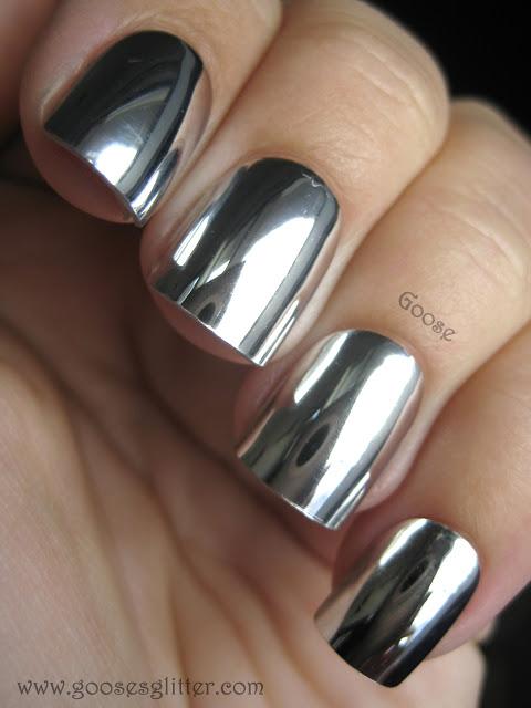 Silver nails patricia julio nail artist - Pintaunas efecto espejo ...