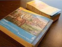 Guía telefónica reciclada para portalapices de papel