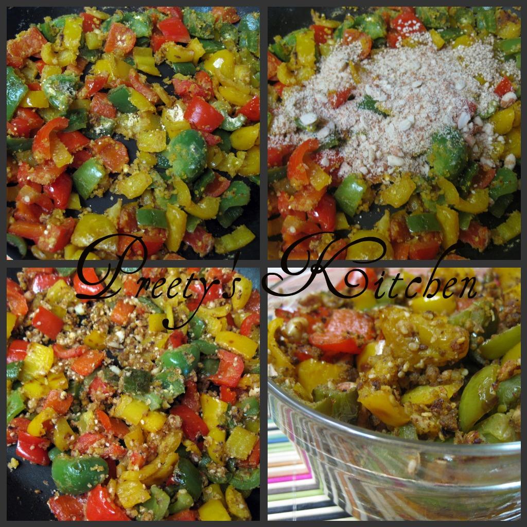 Preetys KitchenShimla Mirch ki Sabzi/ Easy Colorful Bell Pepper