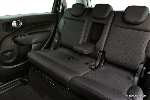 Fiat 500L Beats Edition rear seat