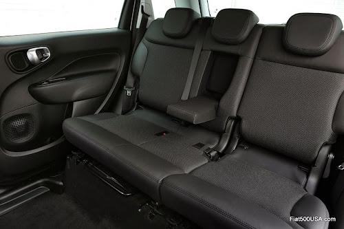 Fiat 500L Beats Edition rear seat