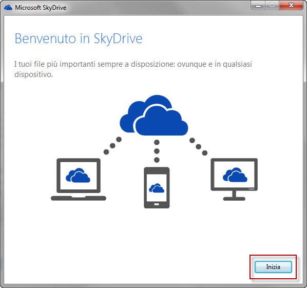 Configurazione Sky Drive