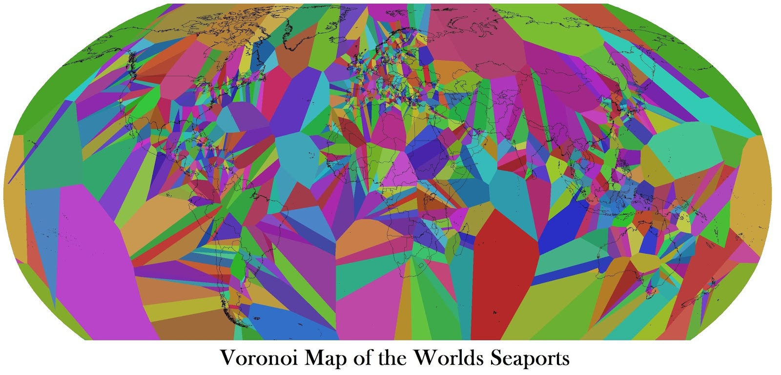Voronoi Map of the Worlds Seaports
