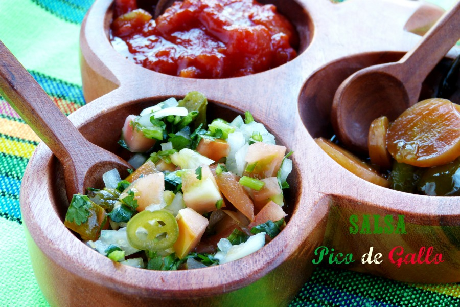 Salsa mexicana o pico de gallo