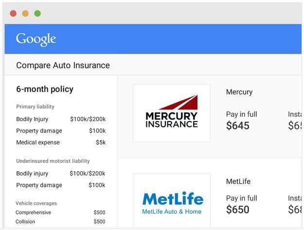 Compare Car Insurance >> Google Auto Insurance Compare Service Starts With California