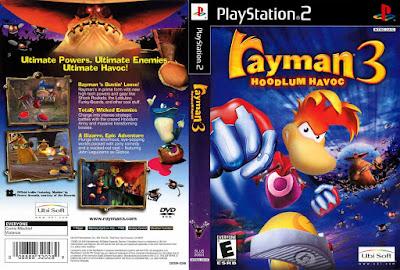 Jogo Rayman 3 Hoodlum Havoc PS2 DVD Capa
