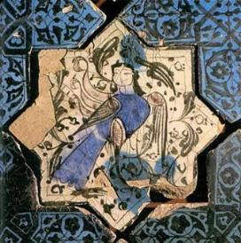 Siren on a star-shaped tile from Kubadabad Palace