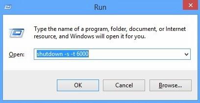 hẹn giờ tắt máy tính laptop