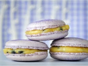 Passion fruit macarons by Torie Jayne